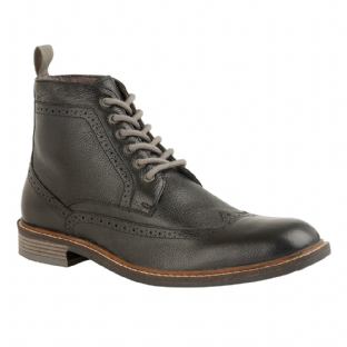 Lotus Aldridge Mens Black Leather Boots